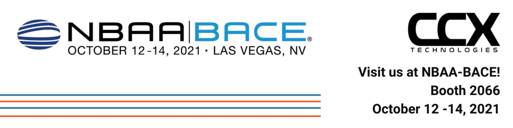 CCX Technologies is going to NBAA-BACE in Las Vegas! Oct 12 - 14 booth 2066.
